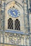 圣Vitus大教堂时钟  库存图片