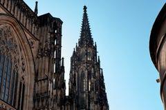 圣Vitus大教堂的门面布拉格城堡的在布拉格,捷克 库存照片