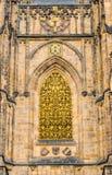 圣Vitus大教堂金门在布拉格 免版税图库摄影