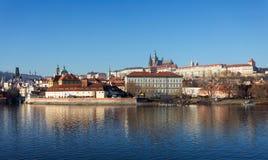 圣Vitus,布拉格城堡和伏尔塔瓦河河大教堂  库存图片