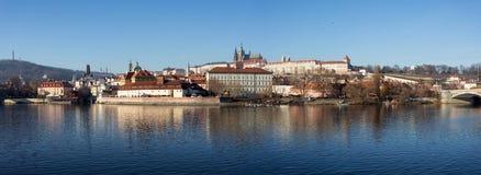 圣Vitus,布拉格城堡和伏尔塔瓦河河大教堂  免版税图库摄影