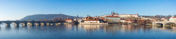 圣Vitus,布拉格城堡和伏尔塔瓦河河大教堂  库存照片