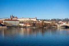 圣Vitus,布拉格城堡和伏尔塔瓦河河大教堂  免版税库存图片