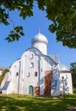 圣Vlasy教会在Veliky诺夫哥罗德,俄罗斯 免版税库存照片