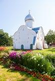 圣Vlasy教会在Veliky诺夫哥罗德,俄罗斯 免版税图库摄影