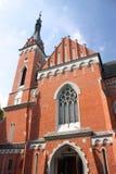 圣Wojciech大教堂在WÄ… wolnica的 免版税库存图片