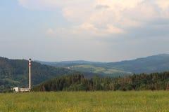 在ÄŒadca附近的夏天晚上 免版税库存照片