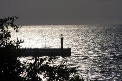 在Å  eba,波兰的小海湾 免版税库存照片