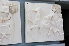 在Ù 上城博物馆-希腊的古老Scalpure 库存图片
