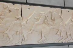 在Ù 上城博物馆-希腊的古老Scalpure 免版税库存图片