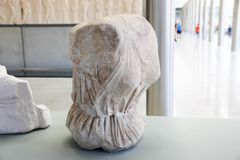 在Ù 上城博物馆-希腊的古老Scalpure 库存照片