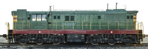在Сzech共和国做的苏联内燃机车 免版税库存图片