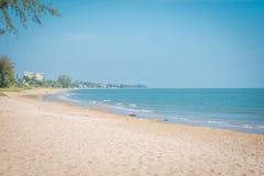 在'Khao Kalok的'海滩在Pranburi 库存图片