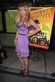 """在""""拖车从地狱""""展示党和名人Q&A,无声电影剧院,洛杉矶, CA. 07-10-11的Laurene Landon 库存照片"""