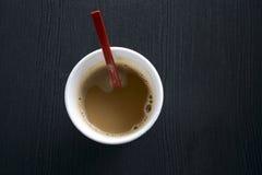 在一一次性杯的咖啡 库存图片