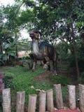在一个主题公园的Dinossaur在福兹做Iguassu 免版税库存图片