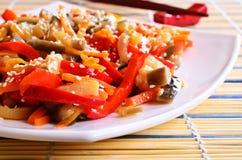 在一个亚洲样式的菜 免版税库存图片