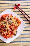 在一个亚洲样式的菜 图库摄影