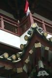 在一个佛教,中国寺庙的装饰品 免版税库存照片