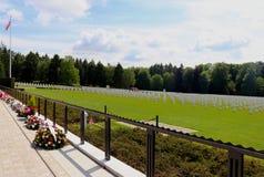 在一个假日期间,卢森堡美军公墓和纪念馆 免版税库存照片