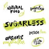 在一个健康食物题材的题字 向量例证