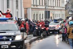 在一个全国事件的救生员车 免版税图库摄影