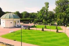在一个公园附近的夏天风景在马尔摩瑞典 免版税图库摄影