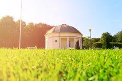 在一个公园附近的夏天风景在马尔摩瑞典 免版税库存图片
