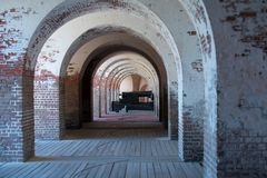 在一个内战堡垒里面 免版税库存图片