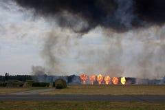 在一个军事范围的爆炸 免版税库存图片