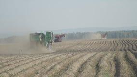 在一个农业领域技术在收获运作 影视素材