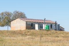 在一个农场的教学楼在监狱长和Vrede之间 图库摄影