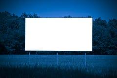 在一个农村场面浸没的空白的广告广告牌-图象wi 图库摄影