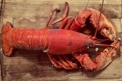 在一个切板的龙虾 免版税图库摄影