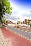 在一个半开放位置的吊桥在阿姆斯特丹 免版税库存图片