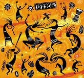 在一个原始样式的跳舞形象 皇族释放例证