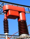 在一个发电站的设备的导致电 免版税库存照片
