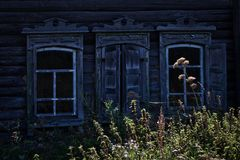 在一个古国房子的门面的看法 库存图片