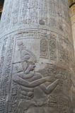 在一个古老埃及寺庙的专栏 库存照片