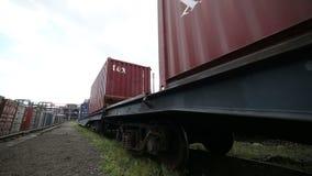 在一个后勤仓库的容器 股票视频