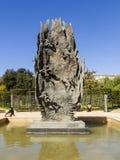 在一个喷泉的雕塑在巴塞罗那0352 免版税图库摄影