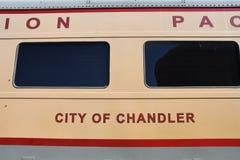 在一个围场博物馆的客车人的能看在亚利桑那 库存图片
