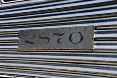 在一个围场博物馆的客车人的能看在亚利桑那 免版税图库摄影