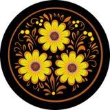 在一个圆的框架的花。 免版税库存图片