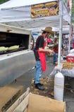在一个地方街道市场的新鲜的烤玉米 免版税库存照片