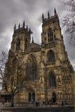 在一个多云晚上的约克大教堂,春天2013年 库存照片
