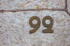 在一个大厦的第99 (九十九)在巴塞罗那,西班牙 图库摄影