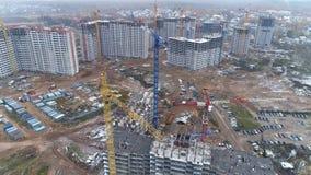 在一个大建造场所的一张顶视图 股票视频