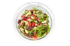 在一个大玻璃碗的菜沙拉 库存照片