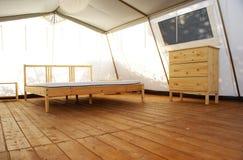 在一个大豪华帐篷里面 免版税图库摄影